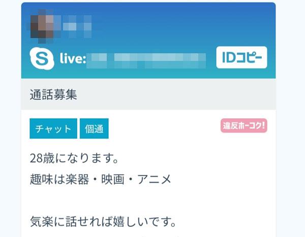 Skype掲示板投稿2